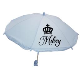Kinderwagen parasol | Kroontje met naam