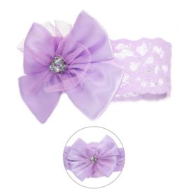 Haarband | Met strik lila