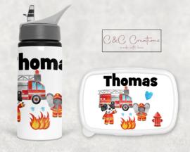 Broodtrommel en beker | Brandweer