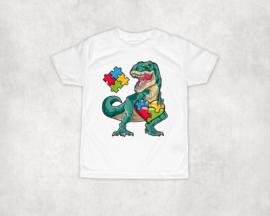 Shirt | Dino met Autisme puzzelstukje