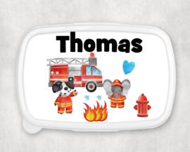 Broodtrommel met naam | Brandweer