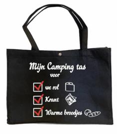 Camping tas | Wc rol, krant, warme broodjes