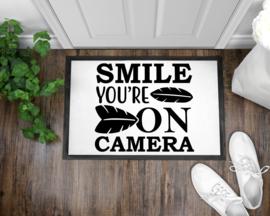 Deurmat | Smile you're on camera
