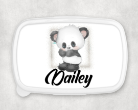 Broodtrommel met naam | Pandabeertje staand