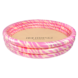 Kinder Zwembad   Roze Zebra Ø 150 cm