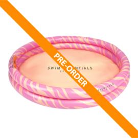 Kinder Zwembad | Roze Zebra Ø 100 cm