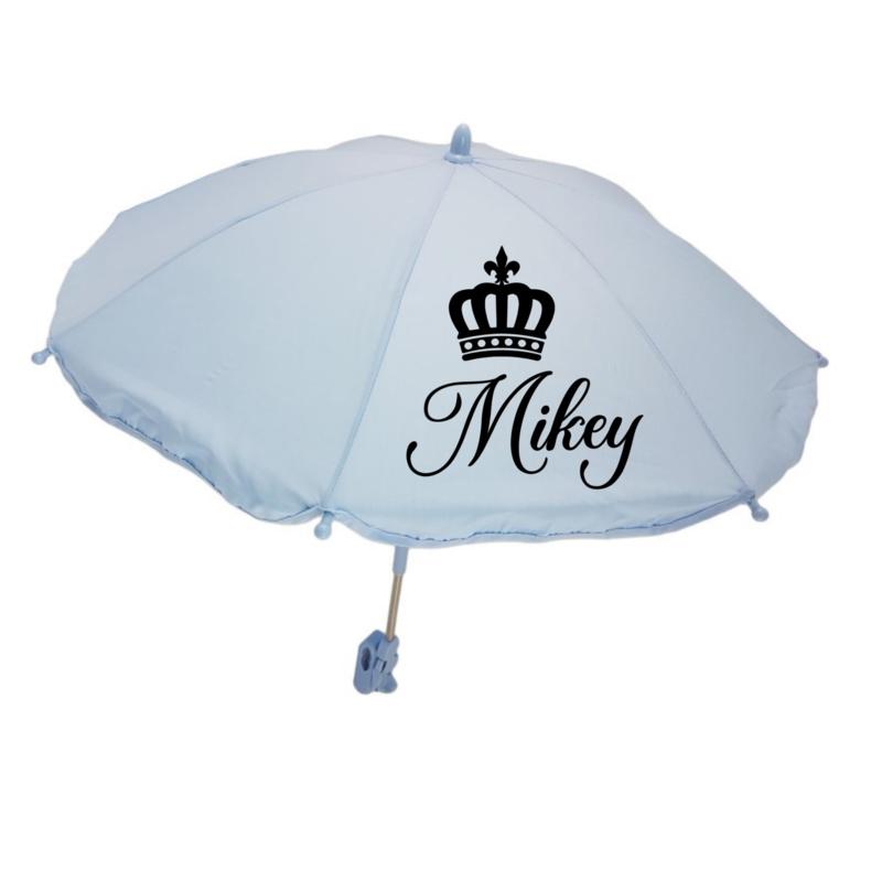 Kinderwagen parasol   Kroontje met naam