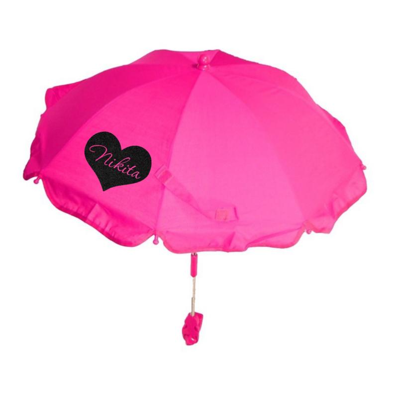 Kinderwagen parasol | Hart met naam