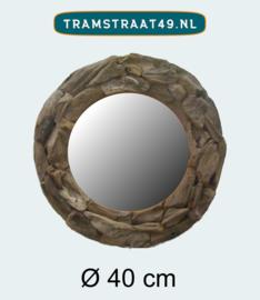 Spiegel rond drijfhout 40 cm