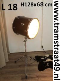 Floor drum vloerlamp - muziekinstrument lamp