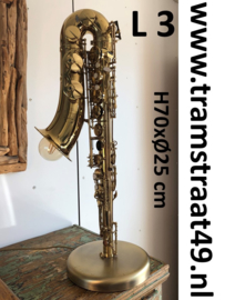 Saxofoon tafellamp - muziekinstrument lamp