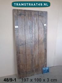 Oud deurpaneel tafelblad 48/9-1