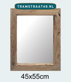 Spiegel teak 45x55 cm