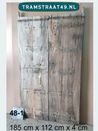 Oude Indiase deur als tafelblad 48-1