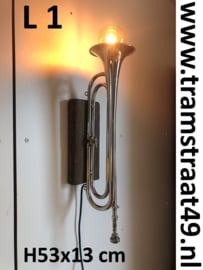 Trompet wandlamp - muziekinstrument lamp