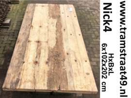 Tafelblad gerecyled blank hout