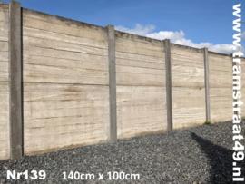 Hardhouten steenschot 140x100cm