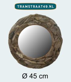 Ronde spiegel drijfhout 45 cm