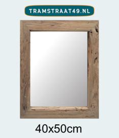 Spiegel teakhout 40x50 cm