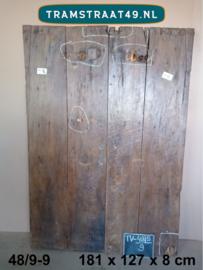 Teakhout tafelblad van oude deur
