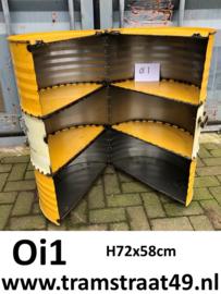 Olievat opbergkastje geel