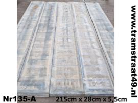 Metalen legplank 215cm A-kwaliteit