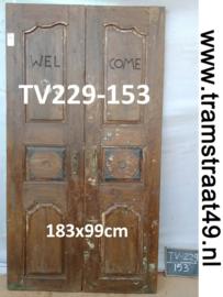 Oude deur welcome