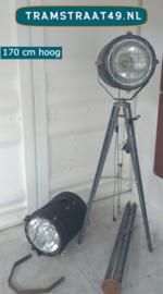 Vloerlamp industriële spotlight
