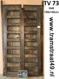 Oude deur teakhout
