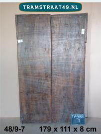Oude deur als tafelblad 48/9-7