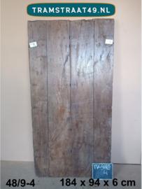 Tafelblad van oude deur 48/9-4