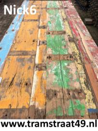 Tafelblad gerecycled hout 240cm