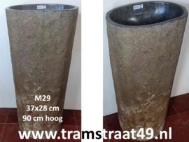 Wastafel zuil natuursteen