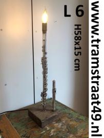 Dwarsfluit tafellamp - muziekinstrument lamp