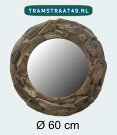 Ronde spiegel hout 60 cm