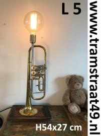 Trompet tafellamp - muziekinstrument lamp