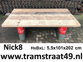 Tafelblad gerecycled hout 200 x 100 cm