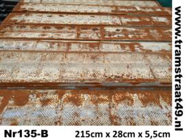 Metalen legplank 215cm B-kwaliteit