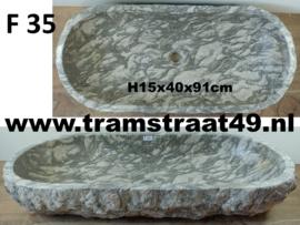Marmer trog grijs / wit