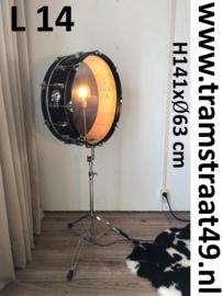 Drum vloerlamp - muziekinstrument lamp