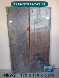 Tafelblad van oude deur 48/9-2