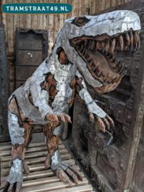 Dinosaurus - Tyrannosaurus Rex van hout en metaal