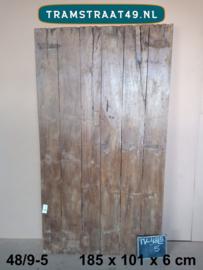 Oude deur als tafelblad 48/9-5