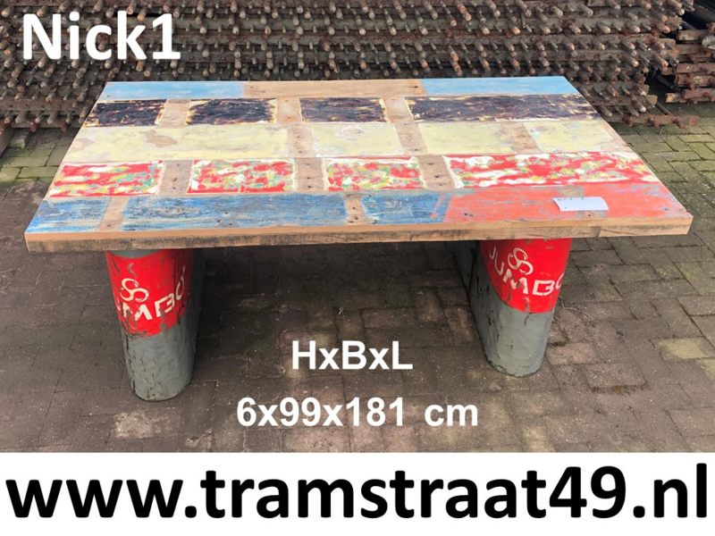 Tafelblad van gerecycled hout