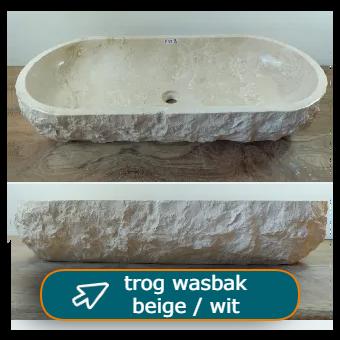 Trog wasbak beige / wit bij Tramstraat49