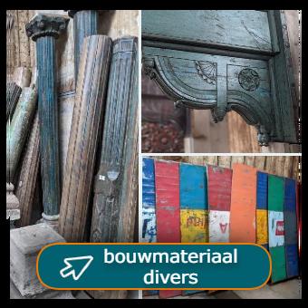 bouwmaterialen divers van hout en metaal