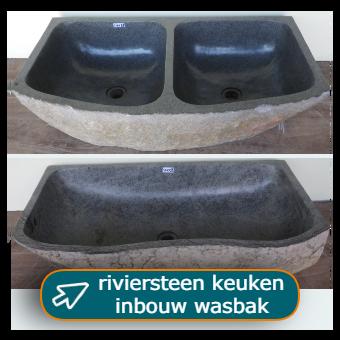 riviersteen keuken wasbak enkel of dubbel