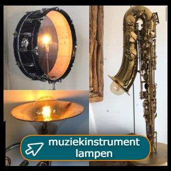 muziekinstrument lampen van o.a. saxofoon, hoorn, trompet en drum