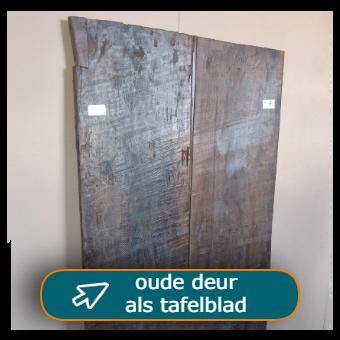 oude losse deuren als tafelblad