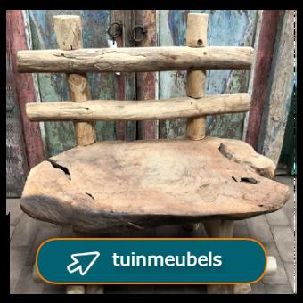 Tuinmeubels van teakhout - stoelen en bankjes